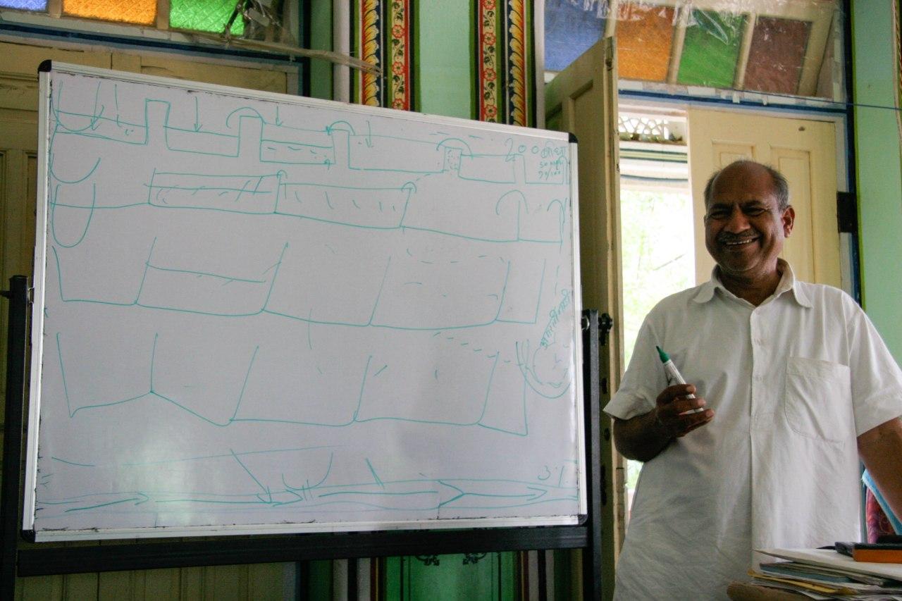 Lakshman Singh explaining the chauka system