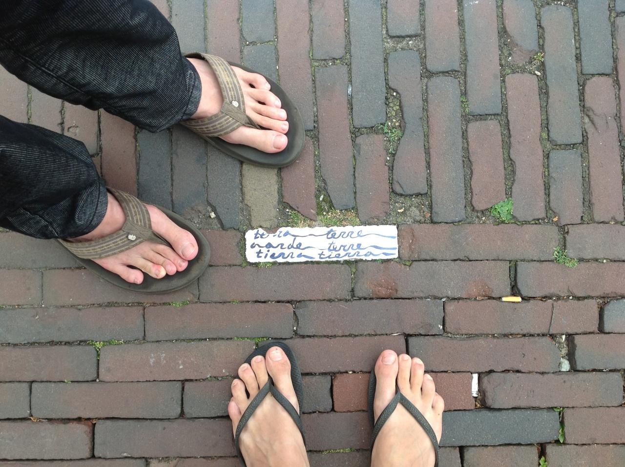 Feet in Delft