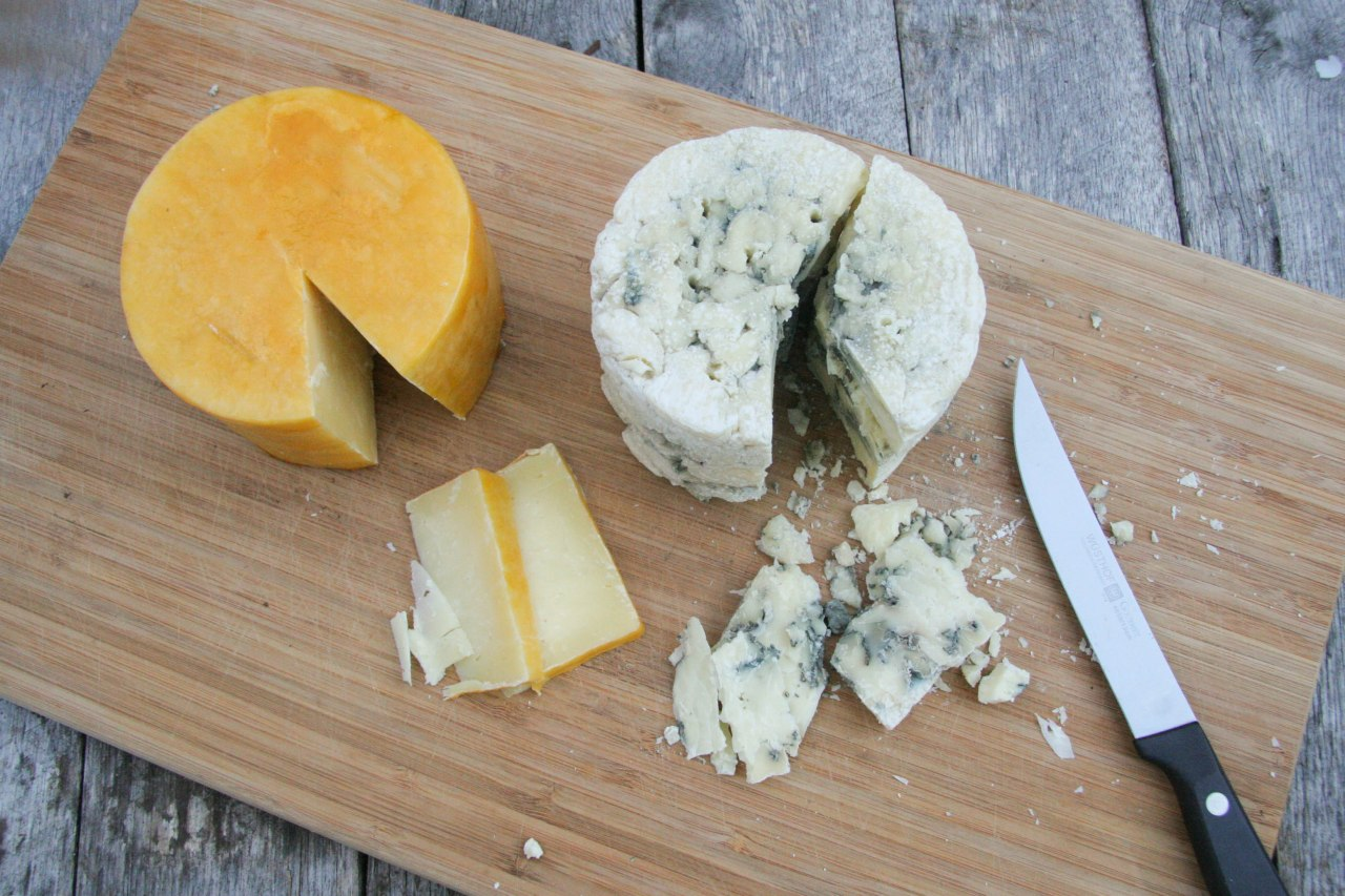 making homemade hard cheese