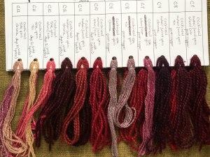 natural dyed yarn samples