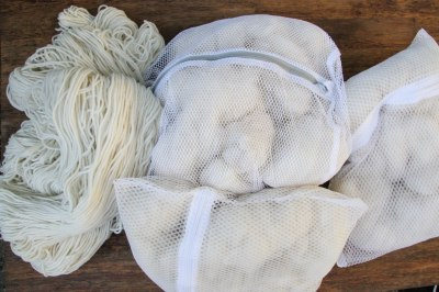 preparing fibers for natural dyeing